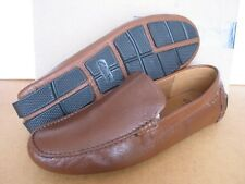 NEW MENS CLARKS DAVONT DRIVE BROWN LEATHER MOCCASIN SHOES 9 G FIT