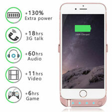 External Battery 5200mAh  Charger Cover Power Case For Apple iPhone 6, 6S,7 8 X