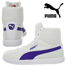 PUMA Boys Trainers Rugged Core Usain Bolt Lite Mid White Shoes Kids Sneakers