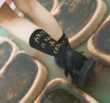 Fashion Socks Letter Vintage Patterned Women Female Casual Cotton Short Hipster