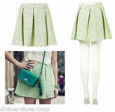TOPSHOP FLURO BOUCLE PLEATED SKIRT £40 SIZE 14 £40 NEW