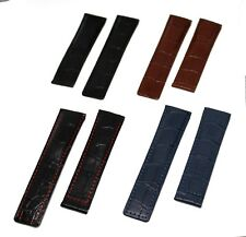 22mm Genuine Leather Strap/Band for Tag Heuer Monaco Watch