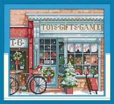 Christmas Toy Shop Cross Stitch Kit | Counted or Printed | 11ct, 14ct or 18ct