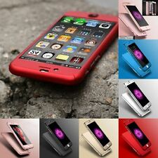 New Hybrid 360° Hard Ultra thin Case + Tempered Glass Cover For iPhone 6 7 8 5