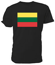 Lithuanian Flag T shirt - Choice of size & colours.