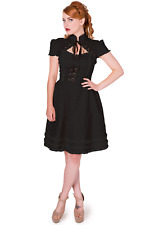Black Gothic Steampunk Corset Buckle Lace Punk Rise of Dawn Dress Banned Apparel