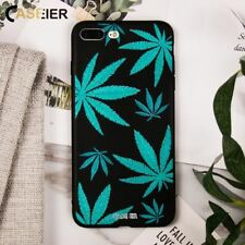 Soft Silicone leaves Patterned Phone Case For iPhone 7 5 5s SE 6 6s 8 Plus X