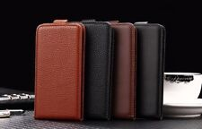 Cover book flip faux leather cover vertical for Lenovo A526
