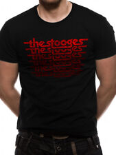 The Stooges 'Classic Logo' Vintage Style T-Shirt Official Merch' *Iggy Pop*