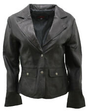 Donna Casual in pelle Nera Giacca Motociclista