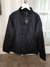 Barbour Mens Navy Gilligham Jacket 100% Waxed Cotton Brand New RRP £229