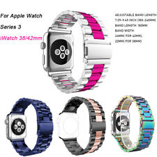 For Apple Watch Series 3 4 iWatch 38/42mm Stainless Steel Strap Watch Band Clasp