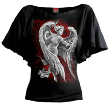 Spiral Direct ANGEL DESPAIR  Boatneck Gothic/Plus/Wing/Girls/Angel/Tee/Dark/Top