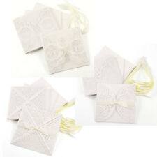 10 Lace Laser Cut Hollow Out Wedding Engagement Invitation Card Envelopes Seal
