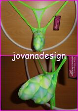 jovanadesign 3D String 1 Contour Pouch Neon Green Black Tiger Holographic XS-XL