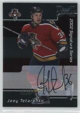 2002-03 In the Game Be A Player Signature Series #133 Joey Tetarenko Auto Card