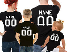 Custom name and number family matching T-shirts set. family t-shirts set