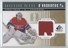 2011-12 SP Game Used Edition Authentic Fabrics Gold #AF-CP Carey Price (R) Card