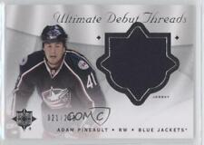 2008 Ultimate Collection Debut Threads DT-AP Adam Pineault Columbus Blue Jackets