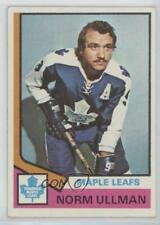 1974-75 Topps #236 Norm Ullman Toronto Maple Leafs Hockey Card