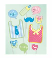 Kids Baby Shower Photo Booth Funny Props Pack of 10 Childrens Party Accessory