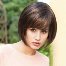 Women Fashion Bob Hair Brown Blonde Short Straight Party Wig Cosplay Full Wigs