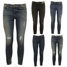 Simply Jeans Womens Designer Distress Ripped Skinny Stretch Ankle Length Jeans