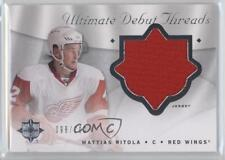 2008-09 Ultimate Collection Debut Threads DT-MR Mattias Ritola Detroit Red Wings