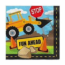 Fancy Construction Party Napkins 33 cm Pack of 16 Happy Birthday Party Accessory