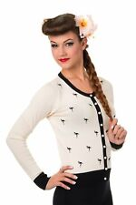 Flamingo Golden Touch Vintage Retro Pin Up Rockabilly Cardigan Banned Apparel