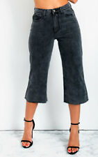 IKRUSH Womens Nadine Mid Rise Cropped Flared Jeans