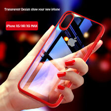 For iPhone Xs Xr Xs MAX Luxury Ultra Slim Shockproof Silicone Clear Case Cover