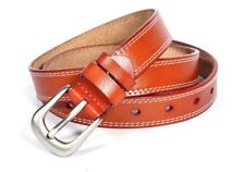 Ladies Quality Leather Belt Buckle Fastening - Tan Colour - BE0008