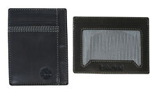 Timberland Black Leather Mens Card Case Holder ID Wallet A1C1L001SA S