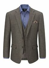 SKOPES Mens Classic Fit Tweed Jacket (Thornton) in Brown