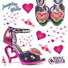Irregular Choice Shoely Not Love Me Hot Pink Pearl Heart Heel UK7.5/41