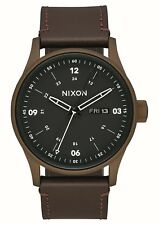Nixon Sentry Leather Bronze Cerakote / Brown One Size