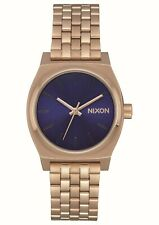 Nixon Medium Time Teller; Color: Rose Gold / Indigo / Black; Talla: One Size
