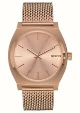 Nixon Time Teller Milanese All Rose Gold One Size