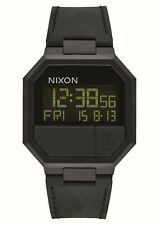 Nixon Re-Run Leather; Color: All Black; Talla: One Size