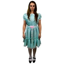 adult womens the shining grady twins sisters blue dress scary halloween costume
