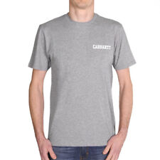Carhartt WIP College Script LT Tee Grey Heather White Herren T-Shirt Grau Weiß
