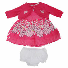 Baby Girls Sleeveless Flower And Polka Dot Print Dress With Matching (BABY1089)