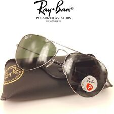 4a826910c1 Authentic Ray-Ban Aviator Polarized Lense Gunmetal Sunglasses RB3025 004 58