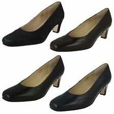 Ladies Equity Wide Fitting Slip On Leather Smart/Formal Court Shoes Alison