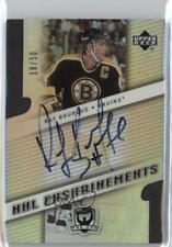 2006-07 Upper Deck The Cup NHL Enshrinements E-RB Ray Bourque Boston Bruins Auto