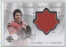 2008-09 Ultimate Collection Debut Threads #DT-IZ Ilya Zubov Ottawa Senators Card