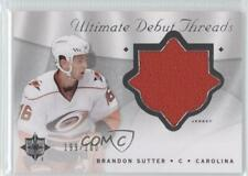 2008 Ultimate Collection Debut Threads #DT-BS Brandon Sutter Carolina Hurricanes