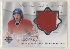 2008 Ultimate Collection Debut Threads #DT-MD Matt D'Agostini Montreal Canadiens