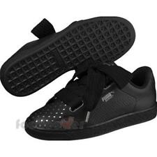 7bff9a3e7791 Puma Basket Heart Ath Lux Wns 366728 03 Womens Shoes Black Casual Trainers